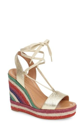 3fc43ed98dd2 Free shipping and returns on kate spade new york daisy too platform wedge  espadrille (Women) at Nordstrom.com. Textured gold leather at the toe and  heel ...
