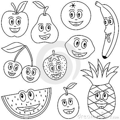 Vegetable Children Coloring Fruit For Kids Royalty Free Stock