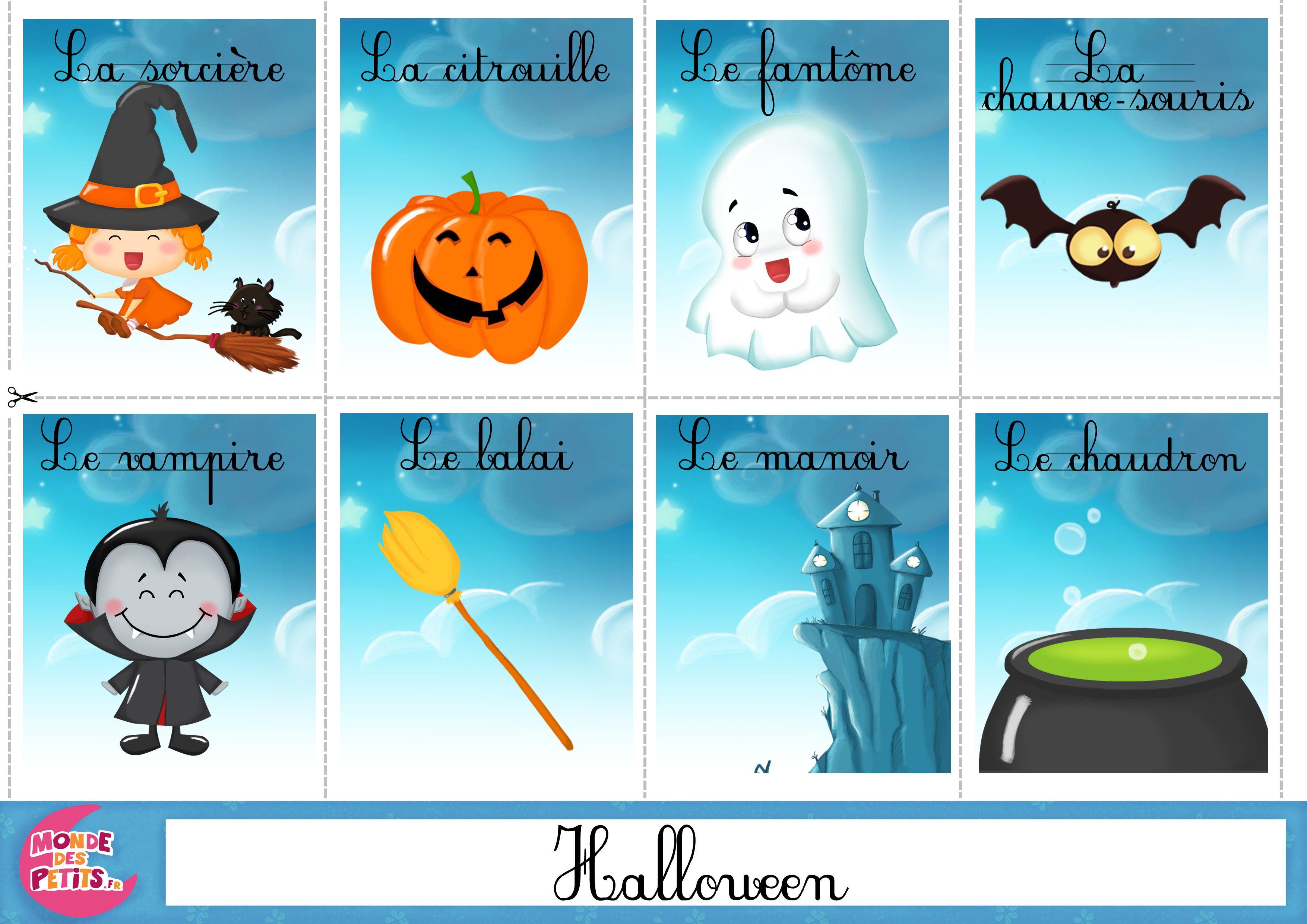 Resultado de imagen para vocabulaire de halloween