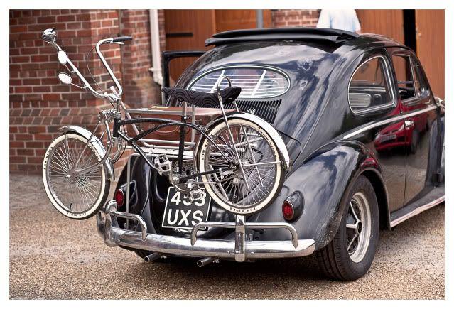classic vw beetle bike rack