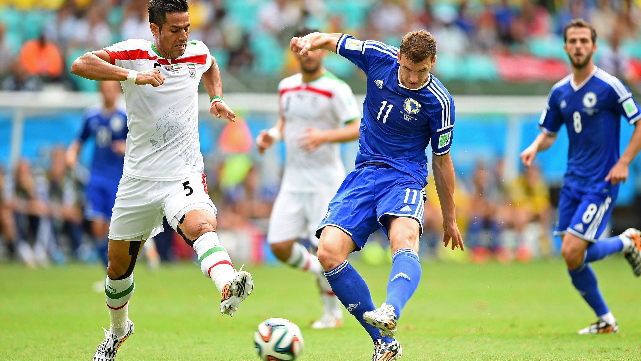 SALVADOR, BRAZIL JUNE 25 Edin Dzeko of Bosnia and