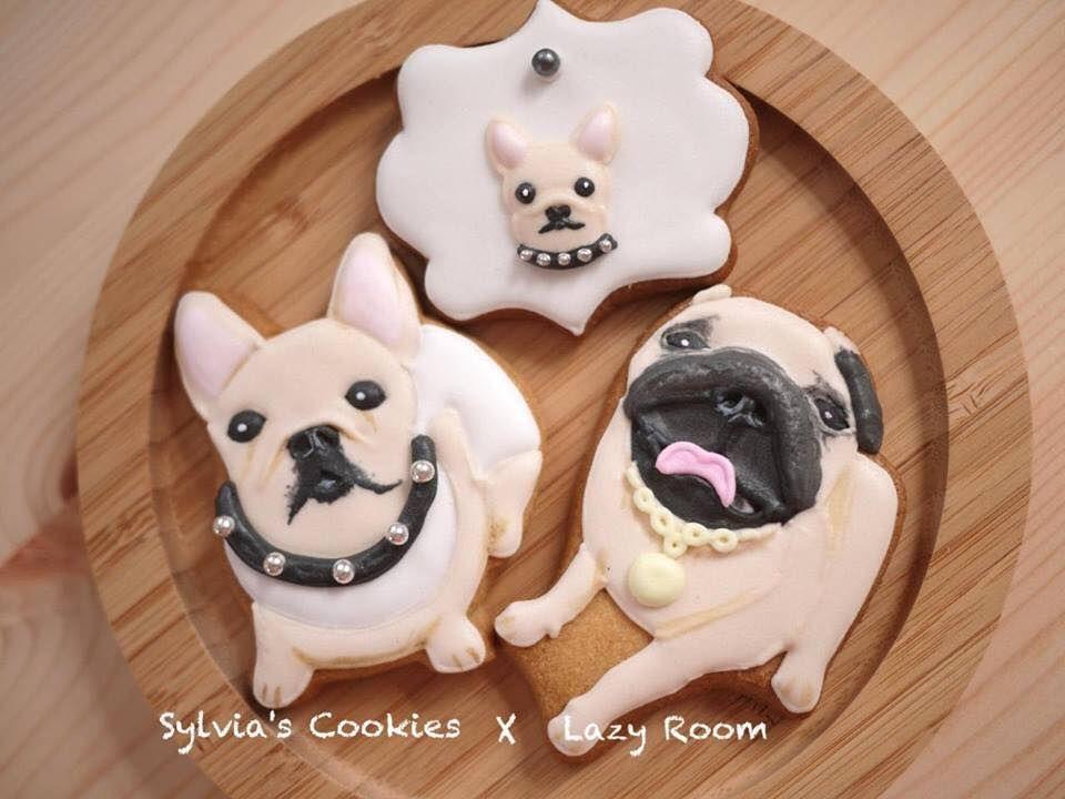 Cookies Bulldog Cake Cookie Decorating French Bulldog