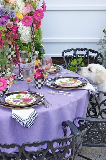 A Whimsical Garden Party Table\u2026 Mackenzie Childs in 2018