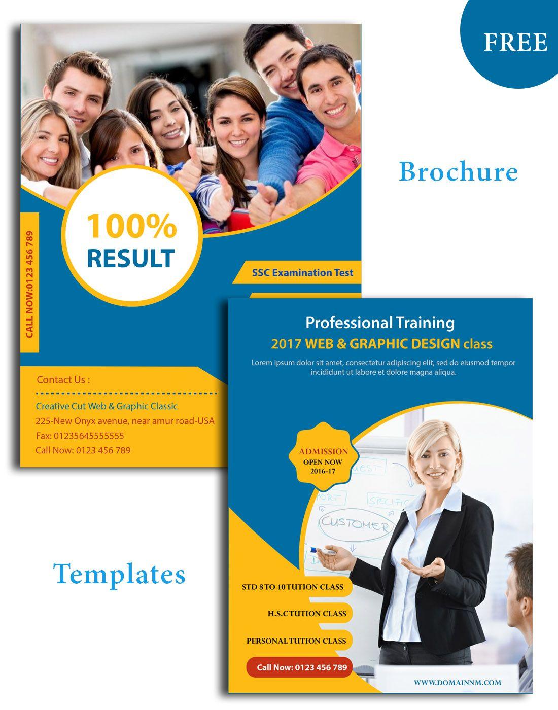 Education Psd Brochure Templates Brochure Design Pinterest - Education brochure templates