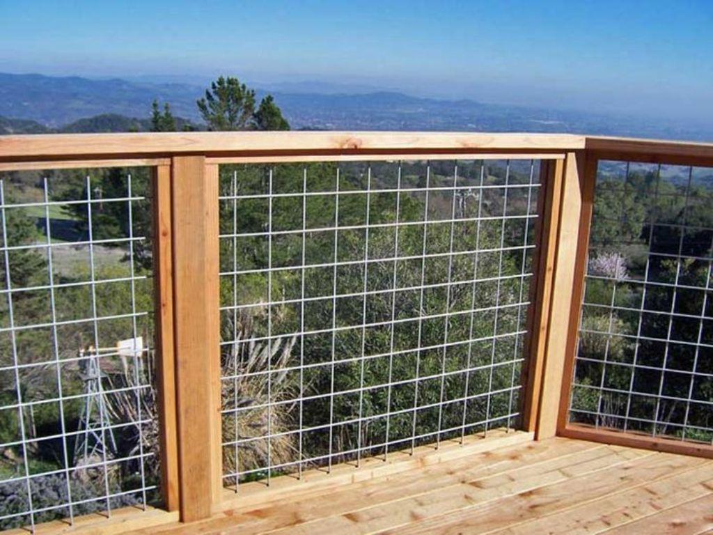 Metal Wire Deck Railing | Wire Mesh Deck Railing Systems Diy Pinterest Deck Railings