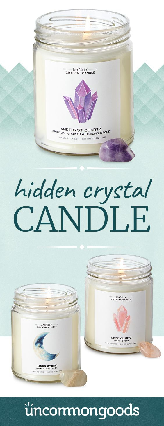 Hidden Crystal Candle | Spirituality | Candles, Crystal gifts