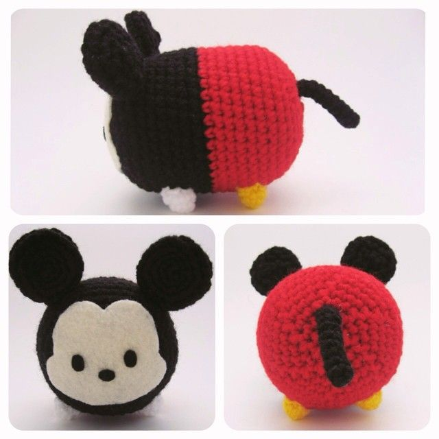 Mickey Mouse Tsum Tsum ~ #amigurumi #crafts #crochet #Disney #DIY ...