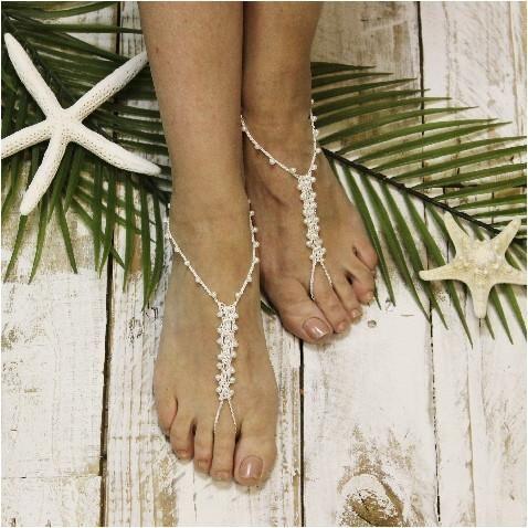 f170ad64126 barefoot sandals - beaded - crochet - boho - footless sandals - hippie