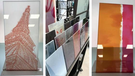 Questa settimana siamo nello showroom de La Vetreria a Poirino. Qui alcuni campioni di decorazione digitale su vetro da loro realizzati. ///  This week we went visiting La Vetreria's showroom in Poirino. Here some samples of digital decoration on glass made by La Vetreria.