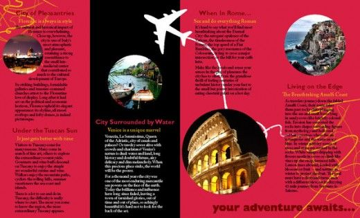 Tour Brochures Examples Ideal Vistalist Co