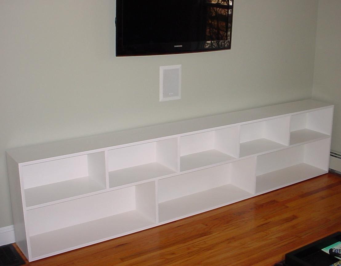 Bookshelves Short Nine Footlong Contemporary Bookcase This