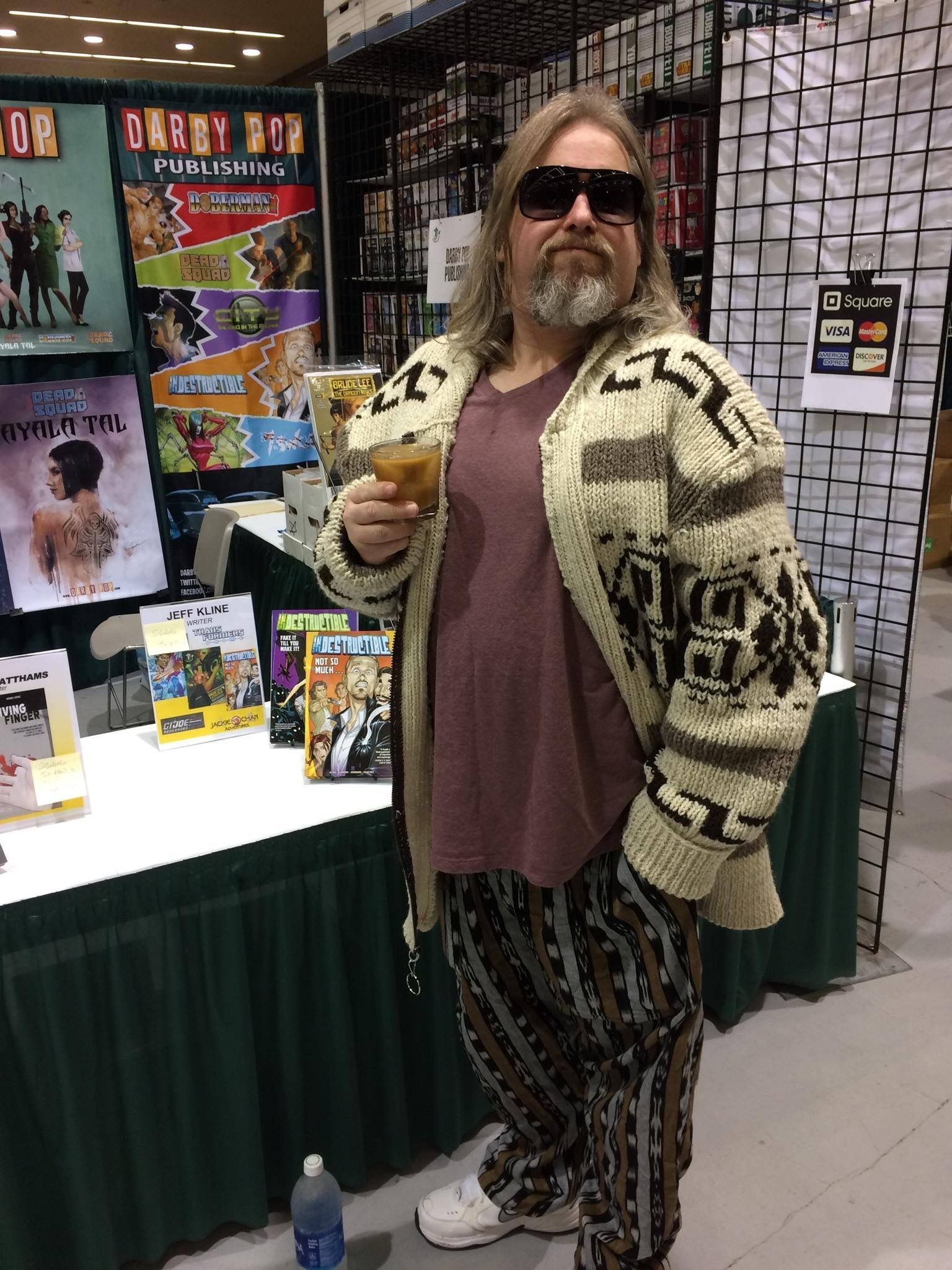 785445eba2 The Dude Abides... at our booth at ECCC! Awesome Big Lebowski cosplay!