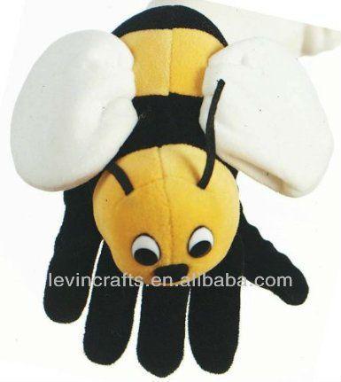 cute plush bee puppet bee glove puppet school specialty puppet glove puppets puppets hand puppets