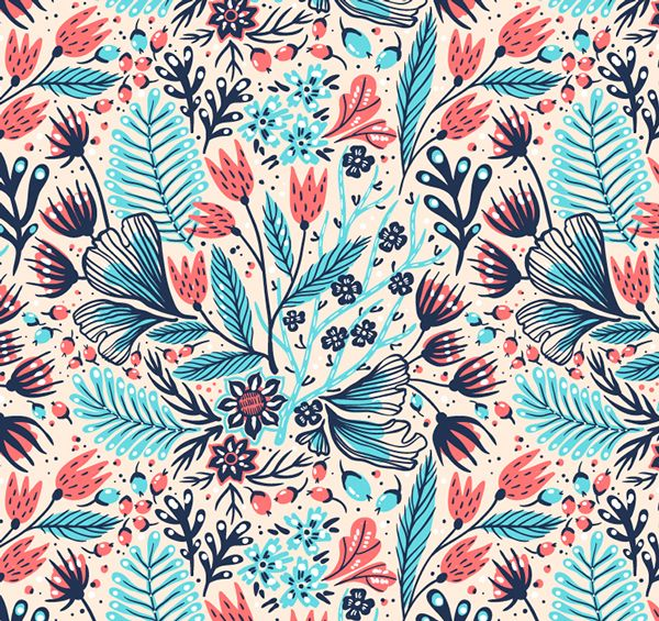 Simple and floral vector seamless patterns on behance pattern simple and floral vector seamless patterns on behance thecheapjerseys Choice Image