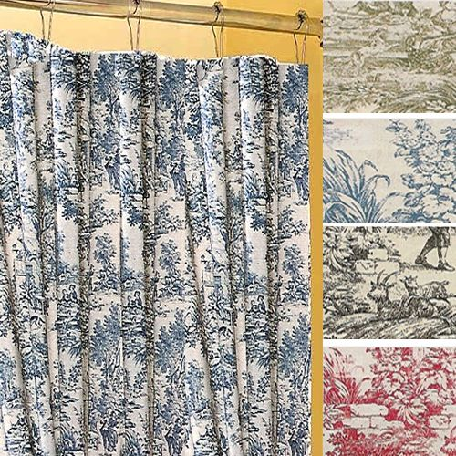 There S No Reason To Settle For A Shower Curtain That Doesn T Provide Style With Our Victoria Toile Fabric
