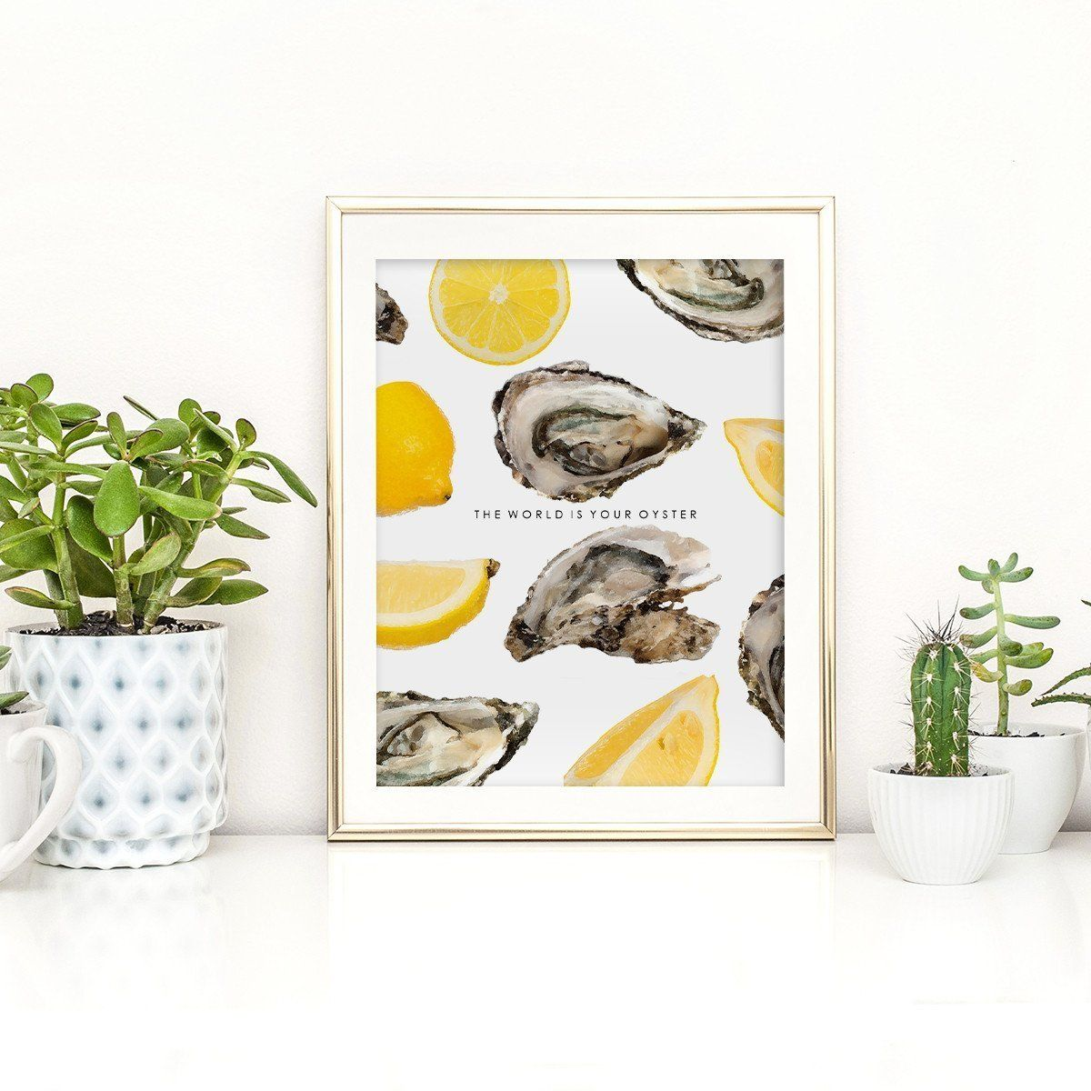 The World is Your Oyster Print Lovers art, Prints, Print