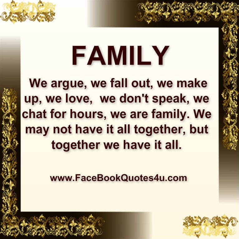 family togetherness quotes Family We argue, we fall