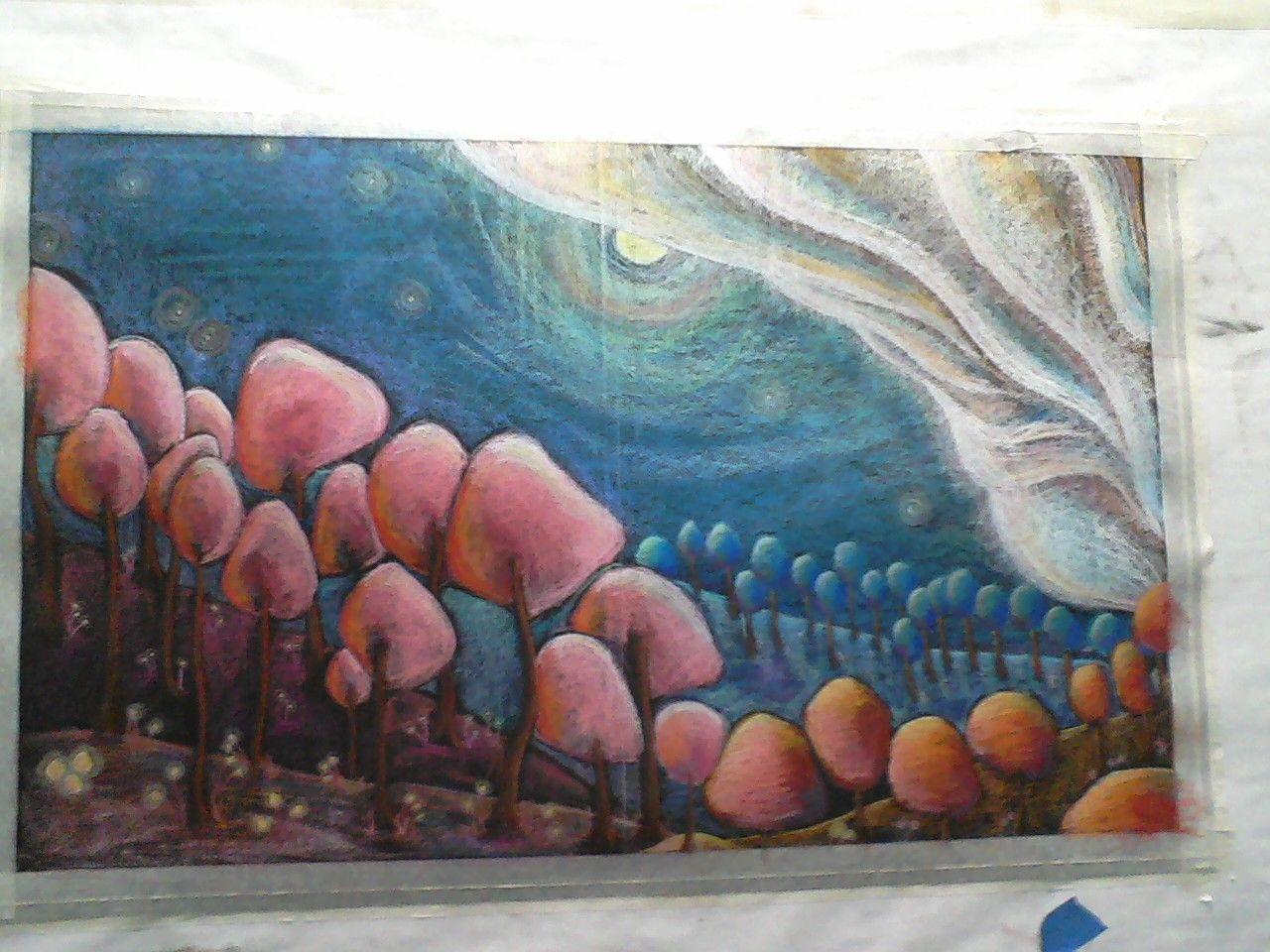Pastel Drawing by Krysta Dean Pastel drawing, Artist