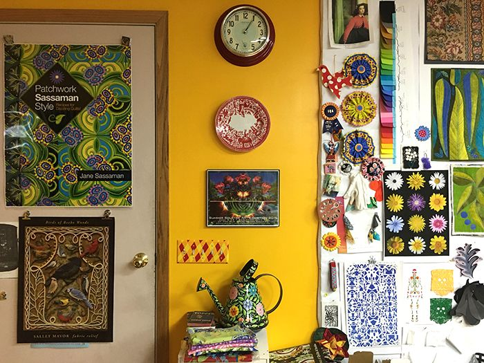 A creative work space.