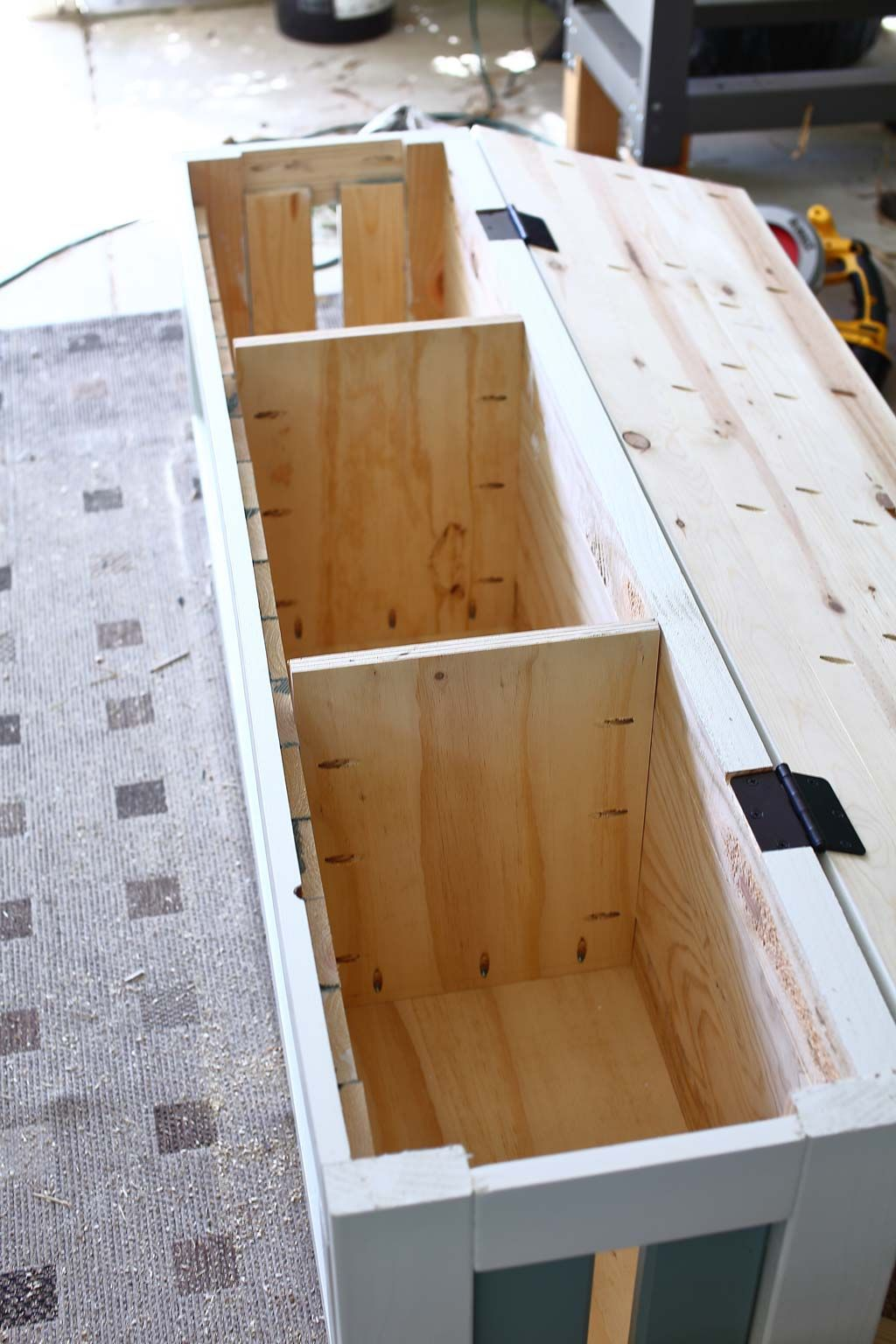 How to Build a DIY Corner Storage Bench TheDIYPlan in
