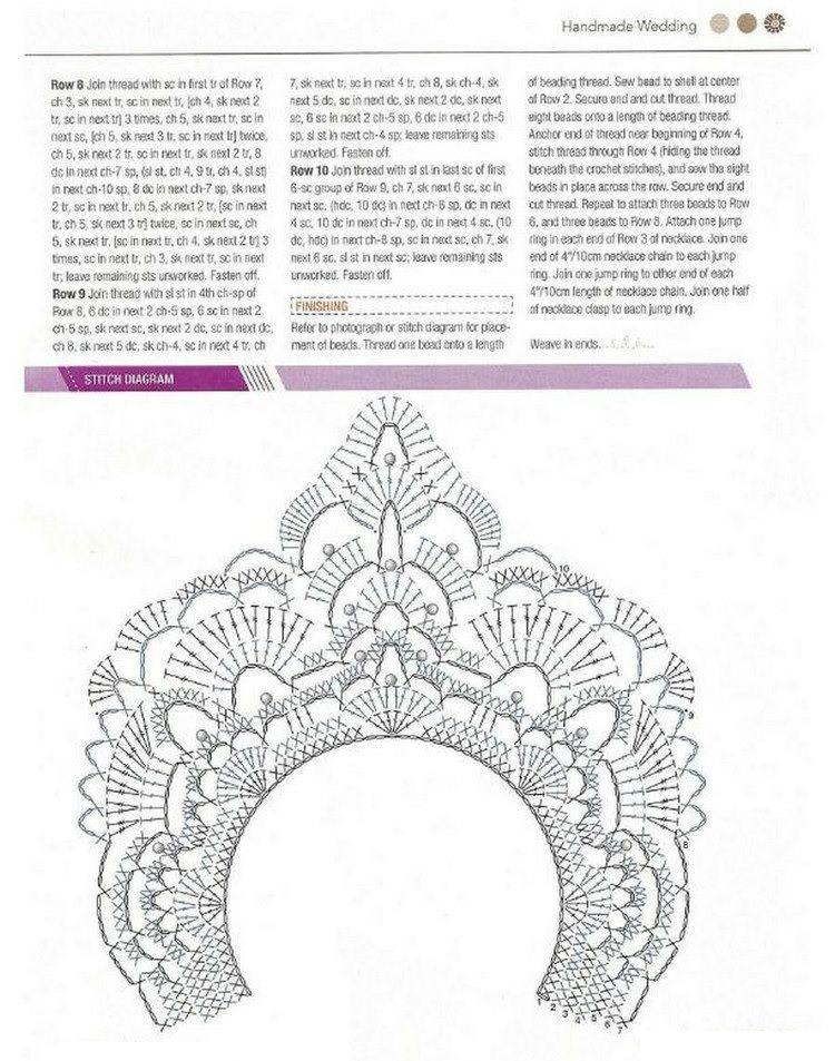 Gargantilla Egipcia de Crochet Patron - Patrones Crochet | COLLARES ...