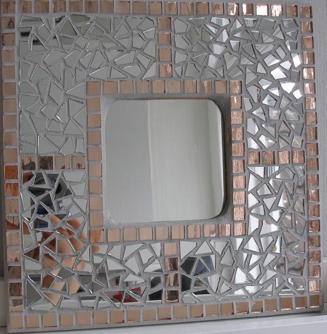 decoracin de un florero jarron de cristal con mosaico de vidrio cristal teselas