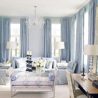 Pin By Victoria Nalin On Home Decor Drapery Light Blue Living