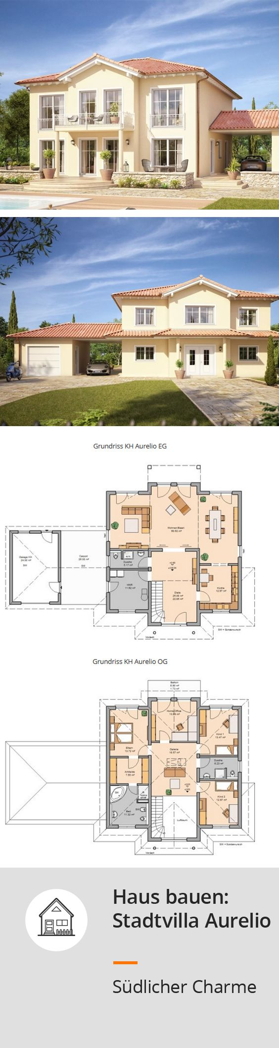 Die #Villa Bringt Mediterranes Flair In Jedes Baugebiet. Großzügigeu2026 | Hausbau  Ideen   Verschiedene Haustypen | Pinteu2026