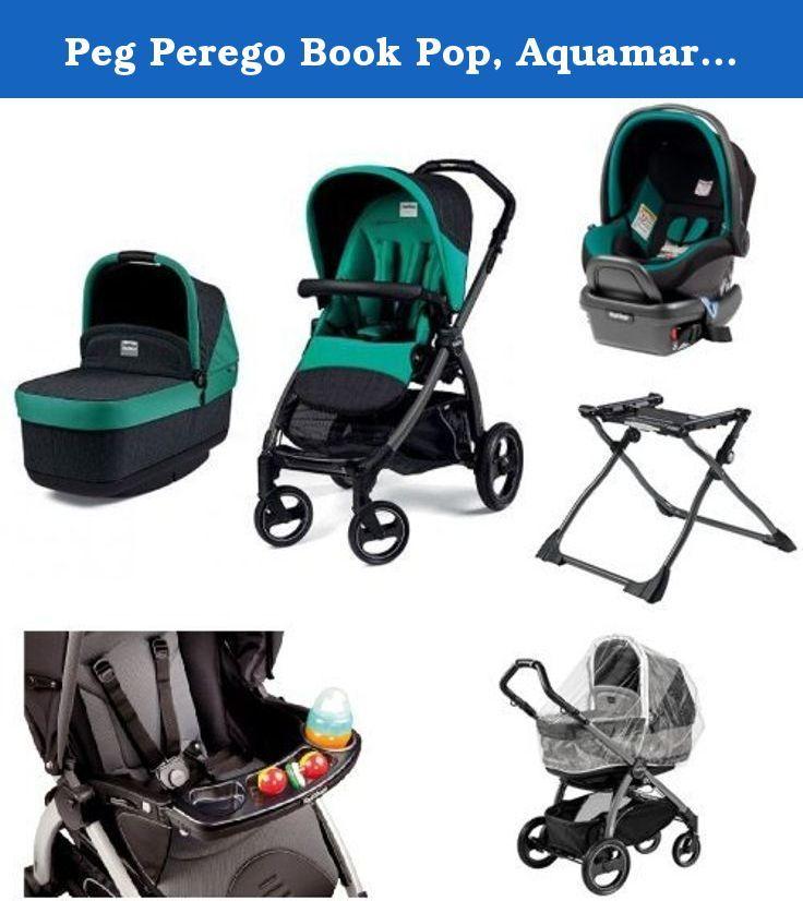 Peg Perego Book Pop, Aquamarine Bundle. Polyester. Rear ...