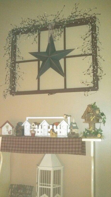 Window Frame Shelf,Country,Primitive,Home Decor,Railroad ...  Primitive Window Frame Decor