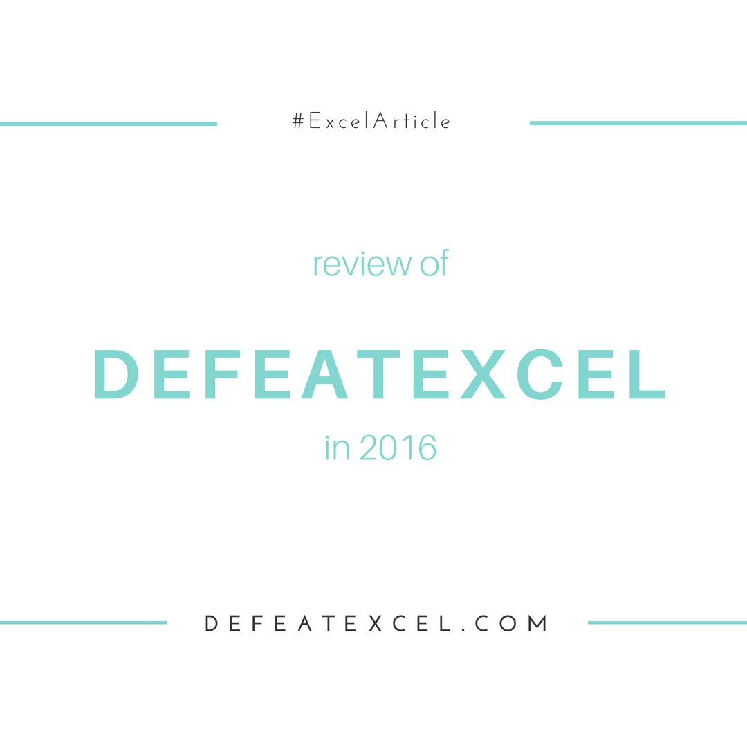 Review Of Defeatexcel