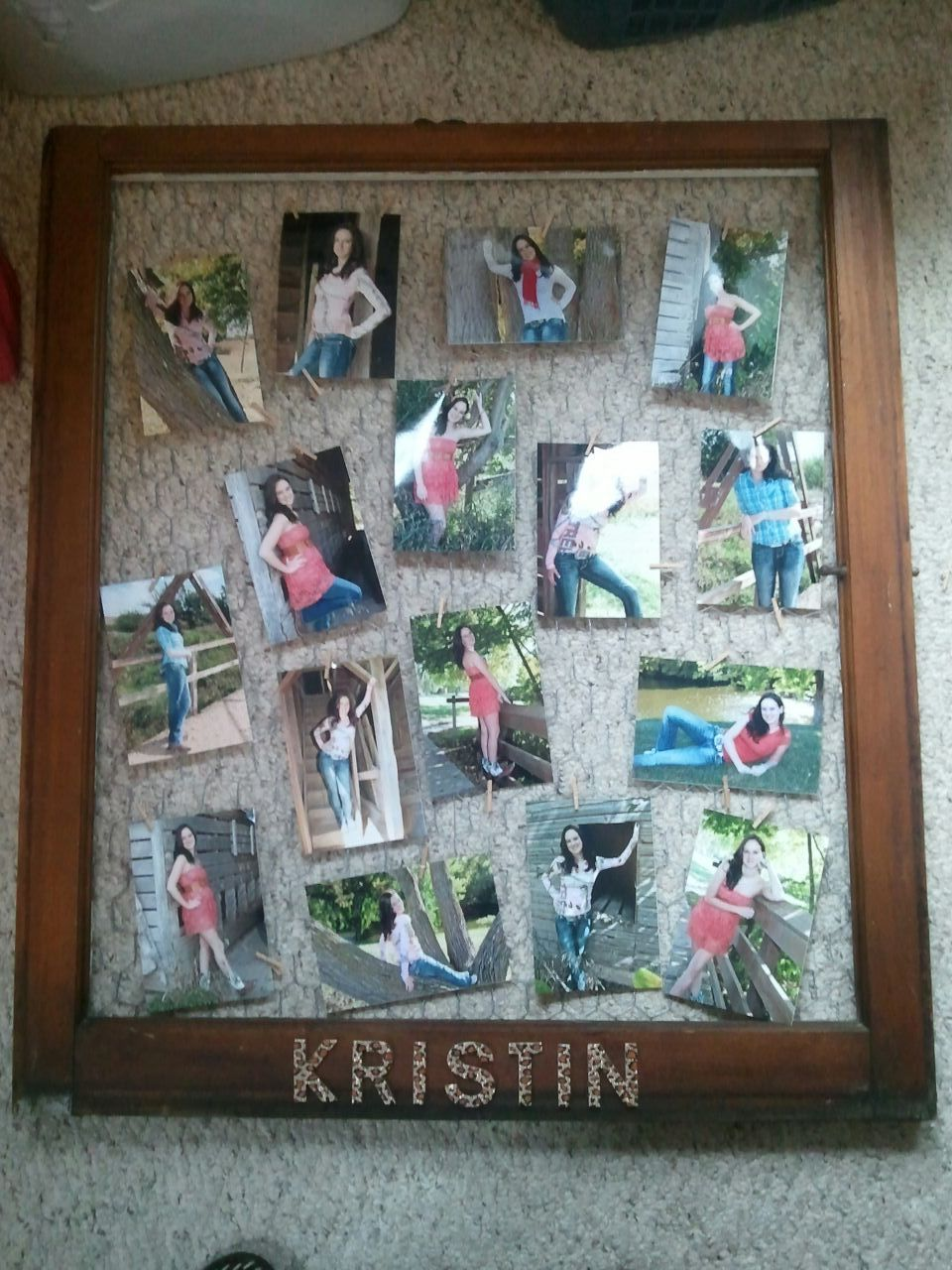 old window frame with chicken wire | my daughter\'s graduation open ...