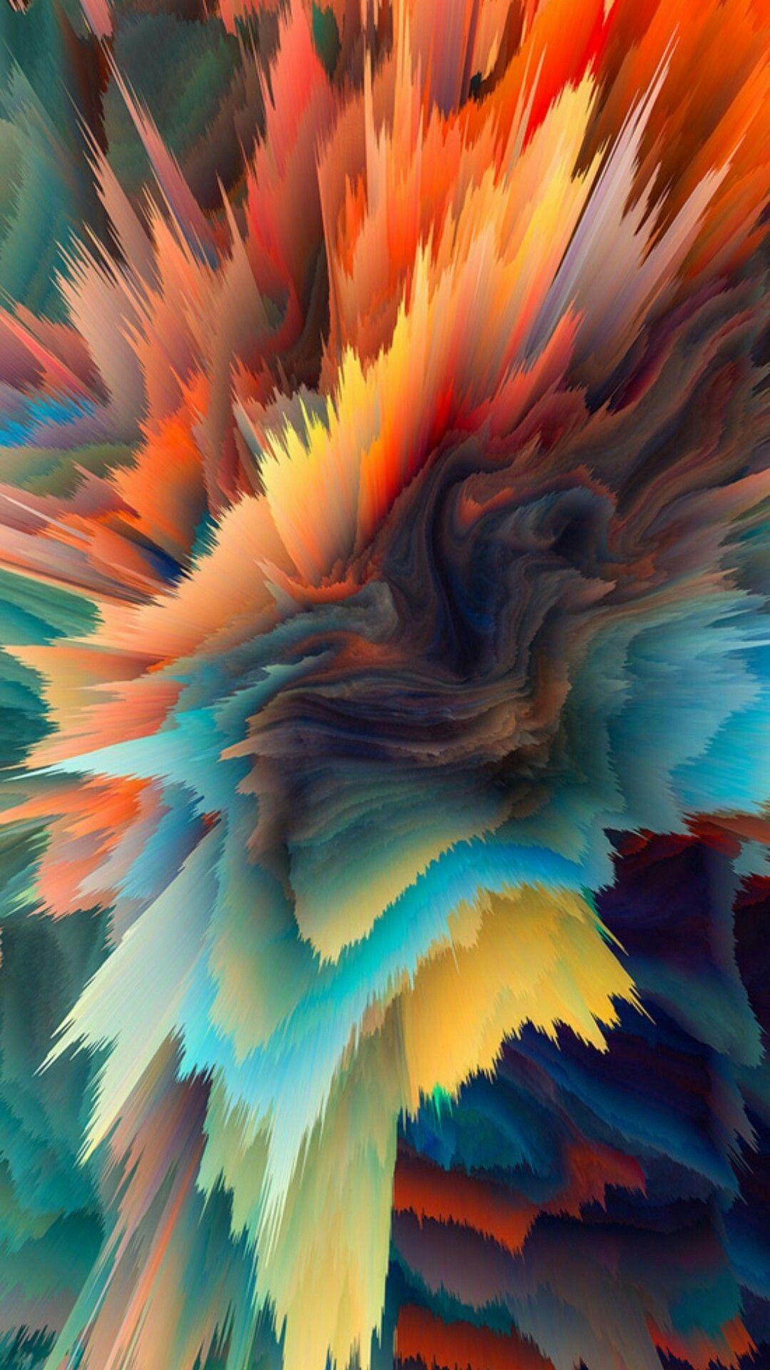 Colourful Wallpaper Color Paint Exposion Wallpaper Fluid