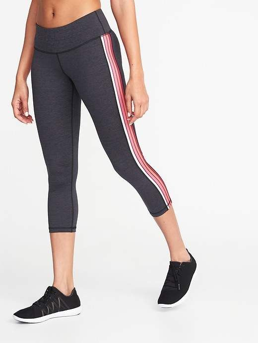 9df7bb5f6dcd4a Old Navy Mid-Rise Side-Stripe Compression Crops for Women | Products ...