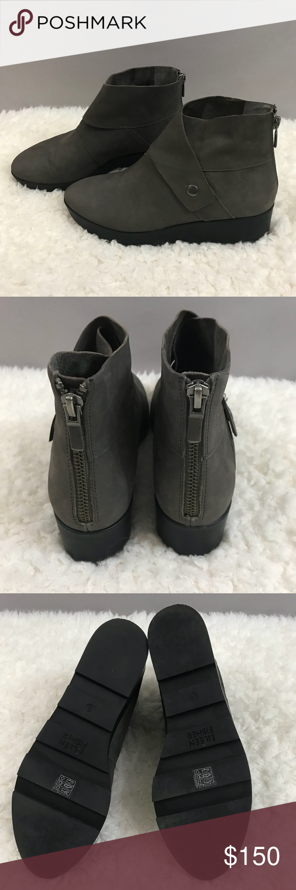 a289503ec13 Eileen Fisher Tread Wedge Booties NEW! Eileen Fisher Tread Wedge Booties.  Size 6. New without the box. Wedge height 2 inches