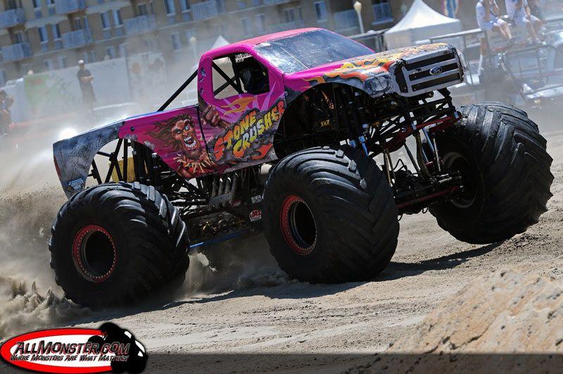 Pink Stone Crusher Monster Trucks Monster Trucks