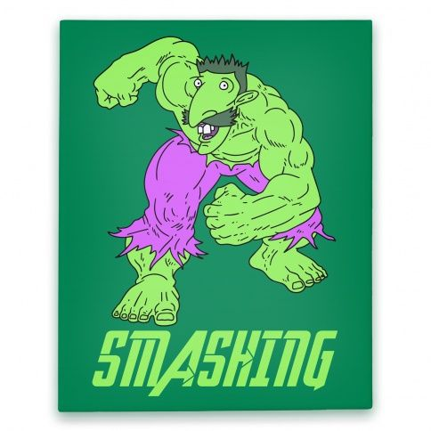 Smashing Hulk Parody Canvas Smashing Nigel Thornberry Hulk The Avengers Meme Canvas Haha Funny Parody Canvas