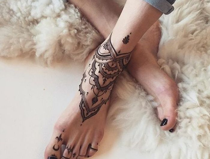 1001 Idees De Henne Pied Pour Magnifier Votre Look Henna