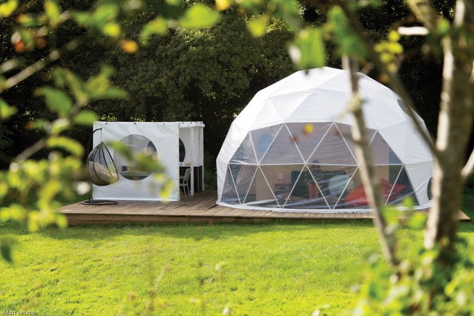 Dome Shelters Pop Up In Backyards Campgrounds Photos Geodesic