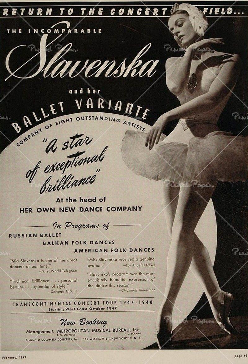 Ballet Pôster Mia Slavenska (With images)   Vintage ballet ...