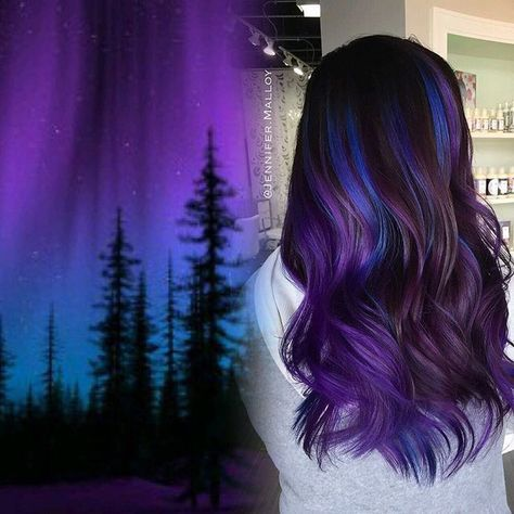 """⚡️Color By Jennifer Malloy⚡️ on Instagram: """"Aurora Borealis My take on Northern Lights Hair. Indoor Lighting. I will post more in a bit! #ColorByJenniferMalloy @PeterDeLucaSalon 847-788-0933 for appointments. No filters or editing of color, as always """""""