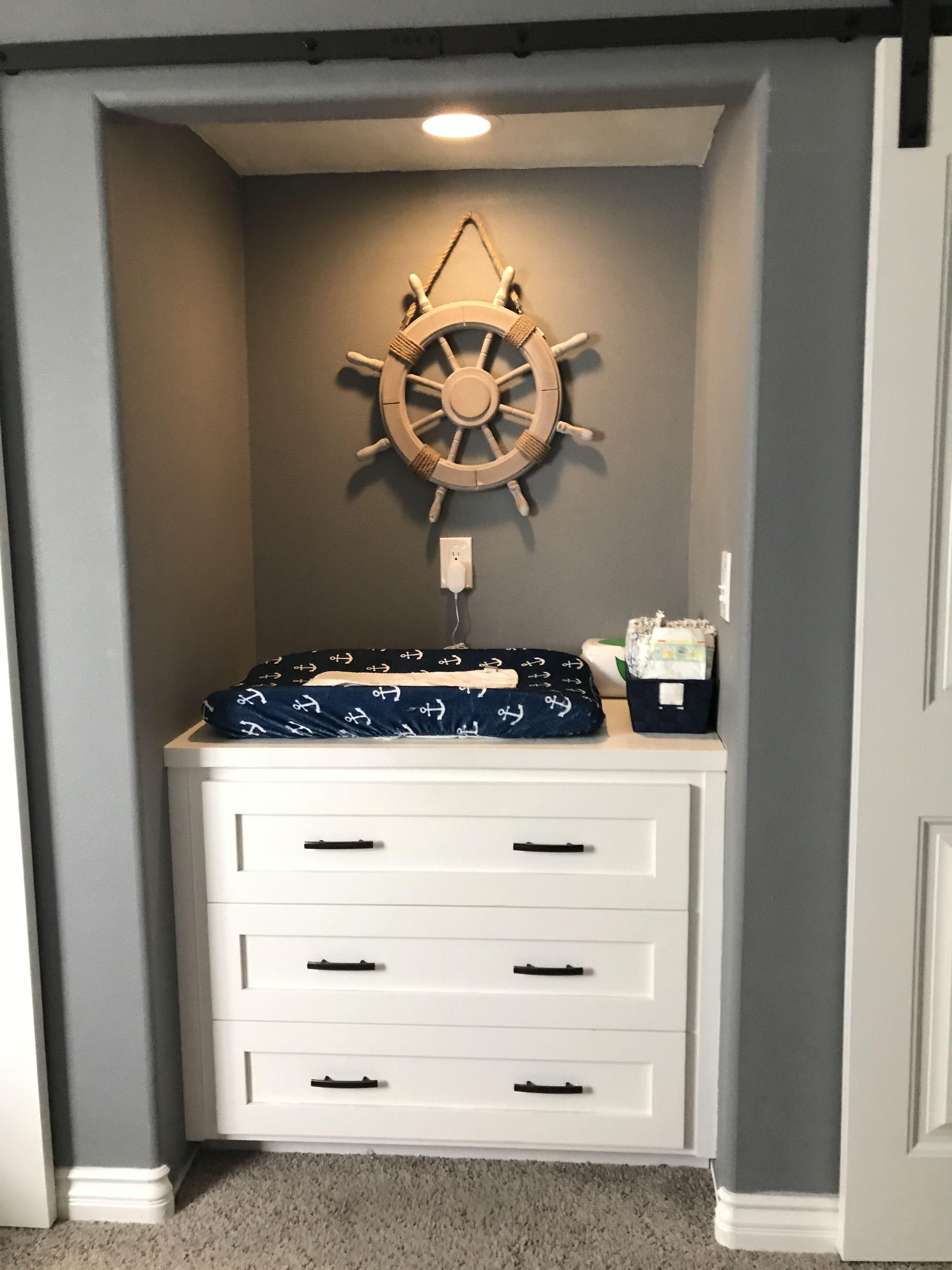 #nautical#nursery#babyboy#grey#dresser#changingtable ...