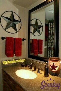 Rustic Star Bathroom Decor Our Scentsy Warmer Would Look Awesome In This Themed