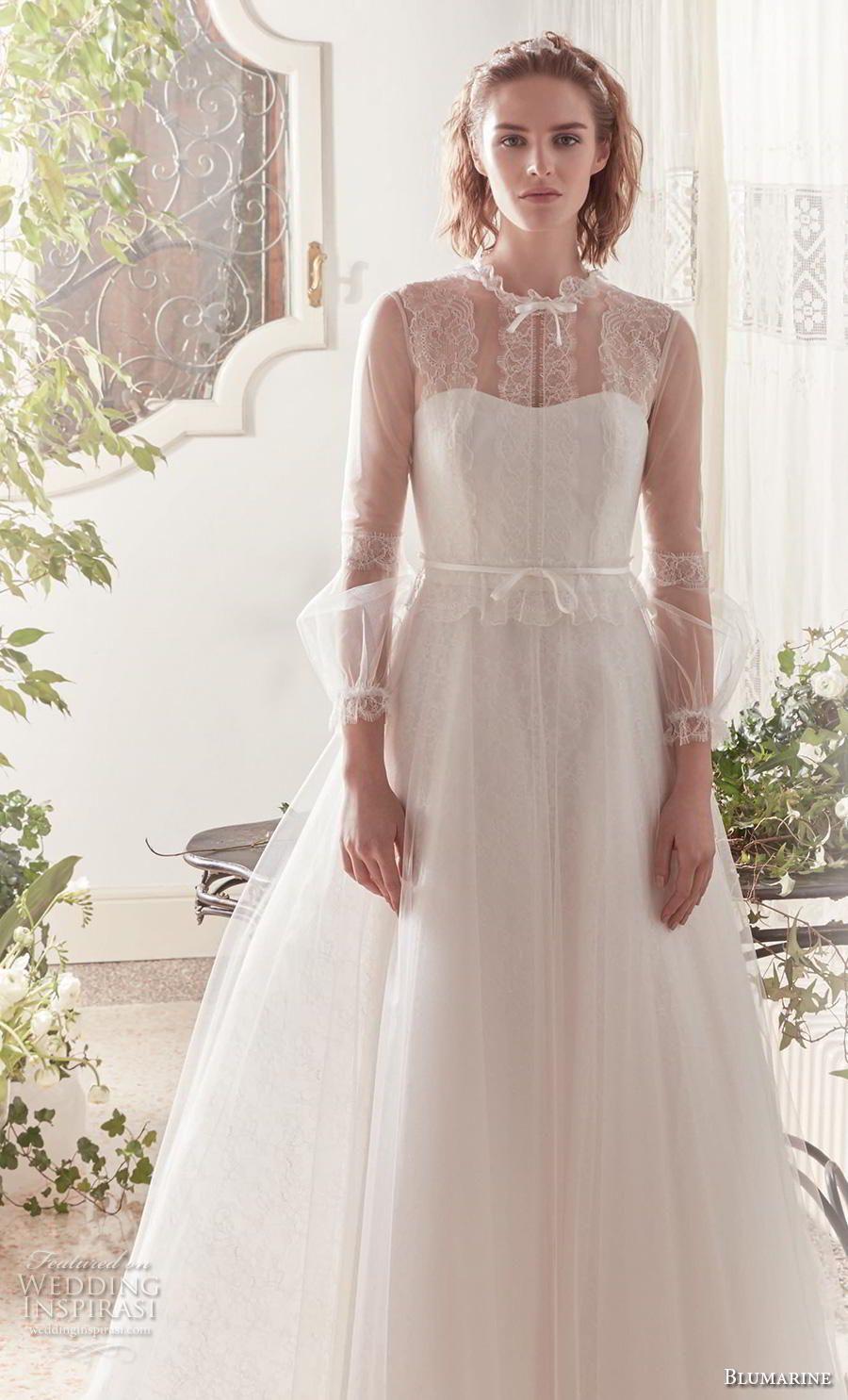 Blumarine Sposa Spring Summer 2019 Wedding Dresses Wedding Inspirasi Long Train Wedding Dress Wedding Dresses Wedding Dresses Summer Simple [ 1485 x 900 Pixel ]