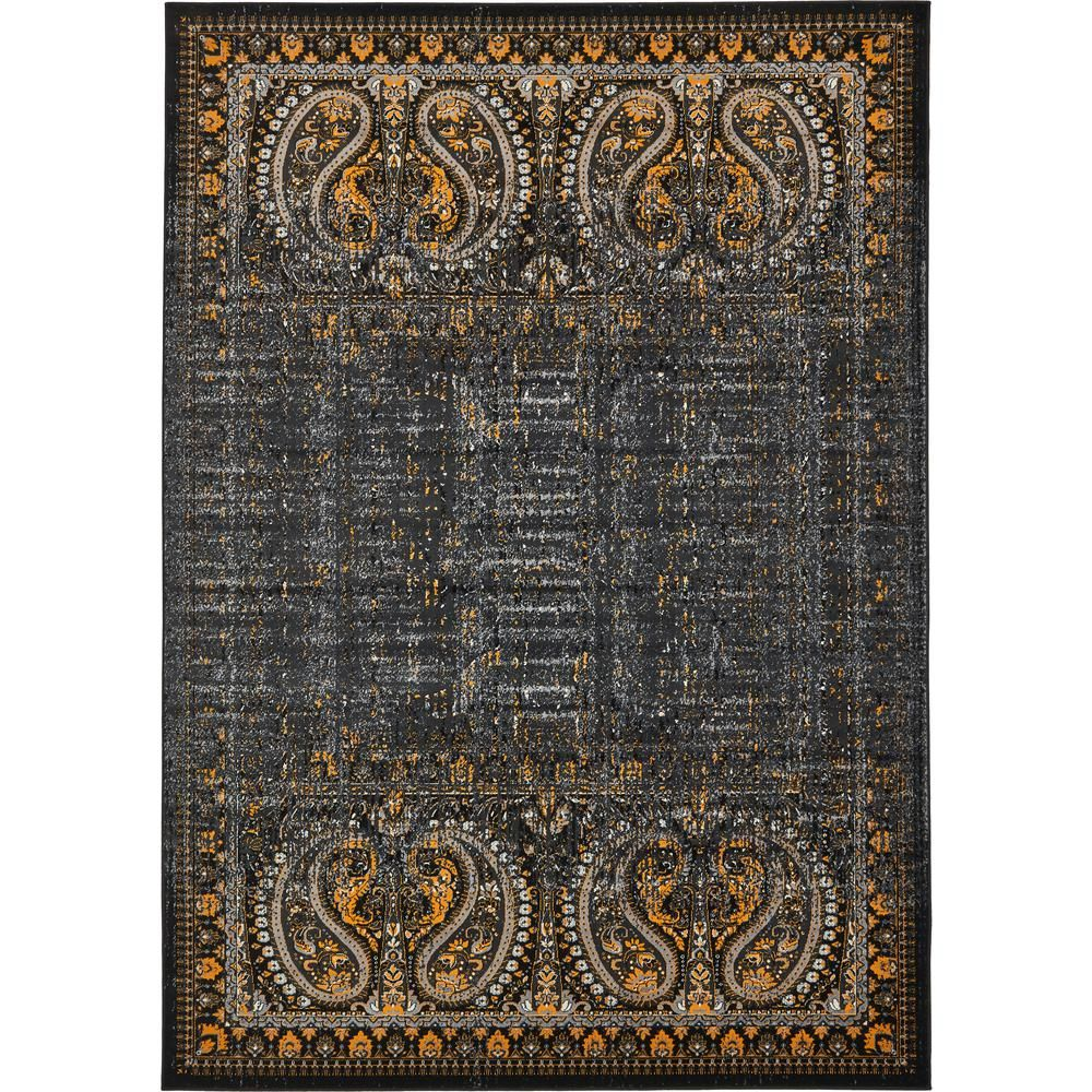 Unique Loom Imperial Anatolla Black 7 0 X 10 0 Area Rug 3134935 Area Rugs Contemporary Area Rugs Rugs