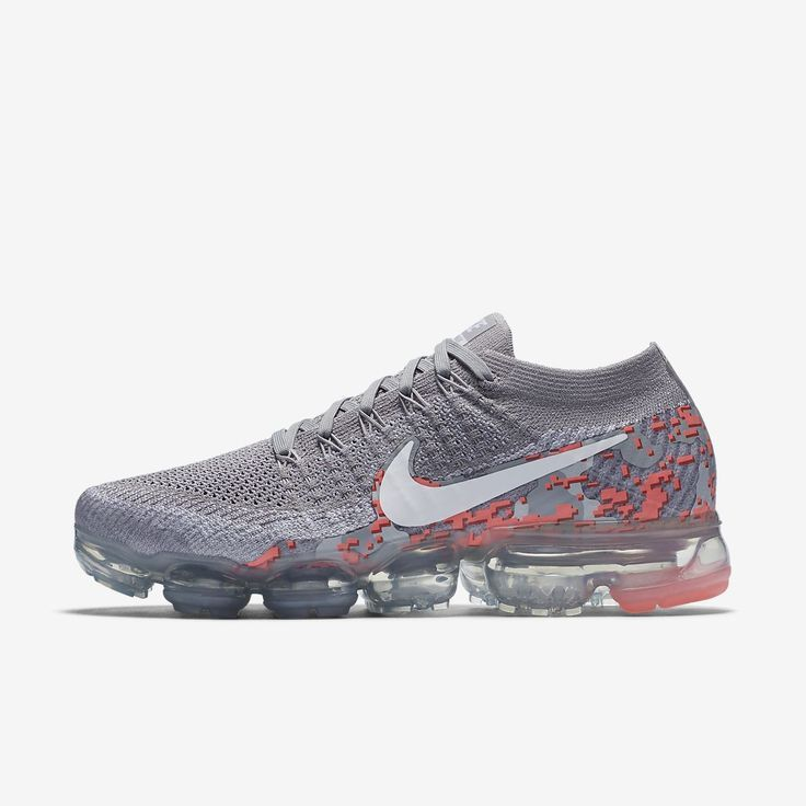With a reinvented cushioning system, the Nike Air VaporMax Flyknit Camo  Women's Running Shoe delivers a lightweight, ...