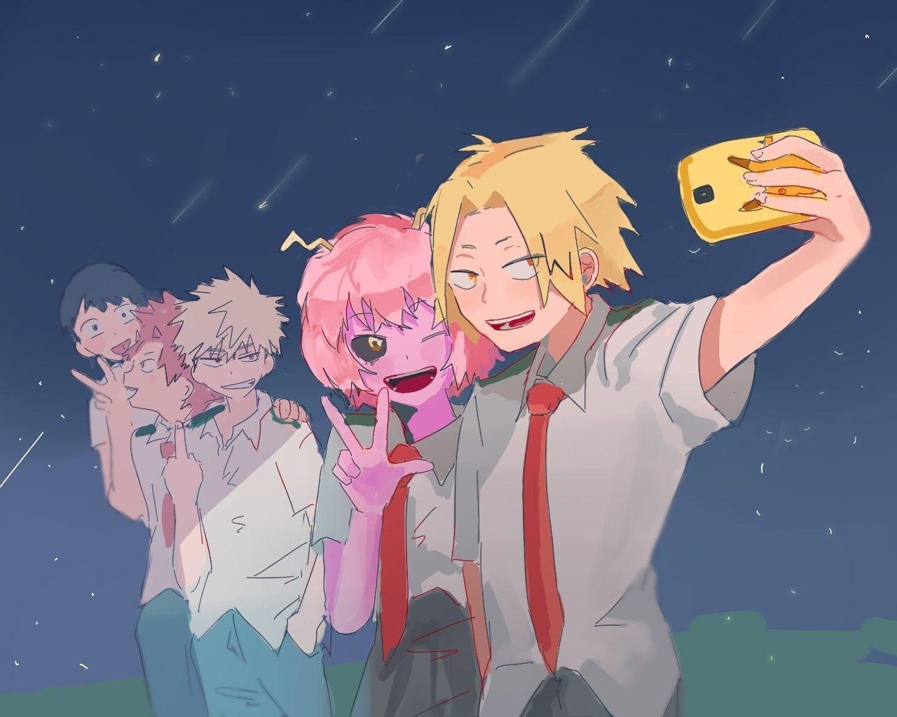 Sero Mina Kirishima And Bakugou Pesquisa Google Hero Wallpaper My Hero My Hero Academia Manga