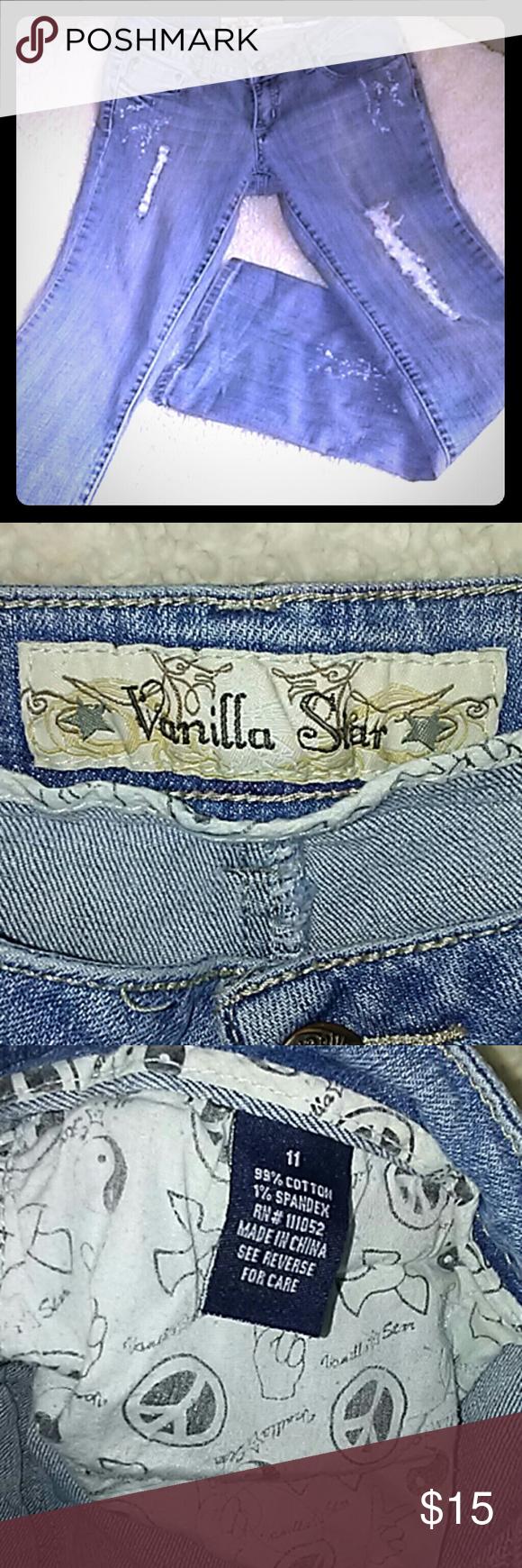 Vanilla star jeans Distressed Vanilla star jeans juniors 11 Vanilla Star Jeans Boot Cut