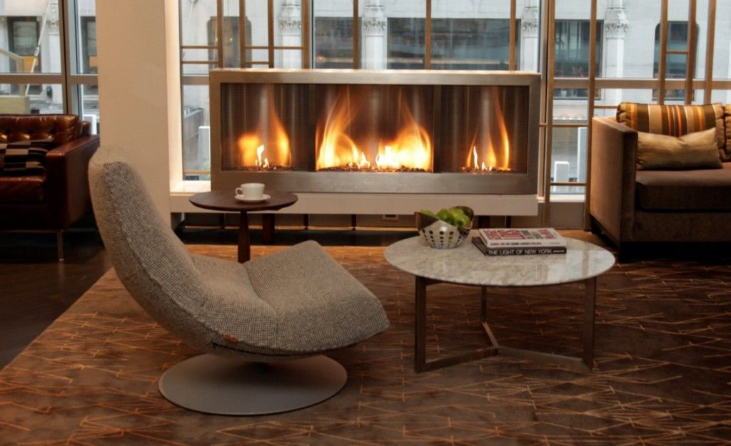 The Hearth Cabinet Safety Fireplace Eliminates The Need For A Gas