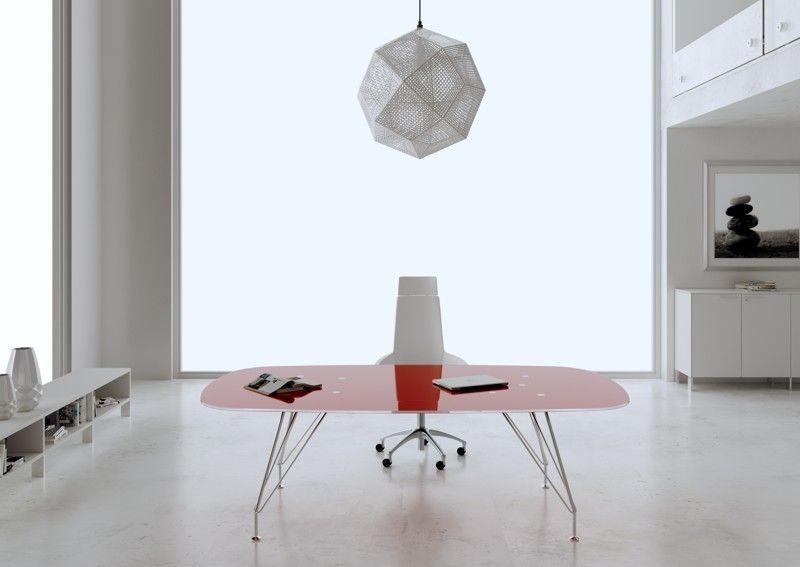 Tavoli Riunione In Cristallo.Scrivania Direzionale Tavolo Riunioni Cristallo Materials Glass